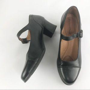 Beautifeel Black Heeled Mary Jane Shoes, 38 7-7.5